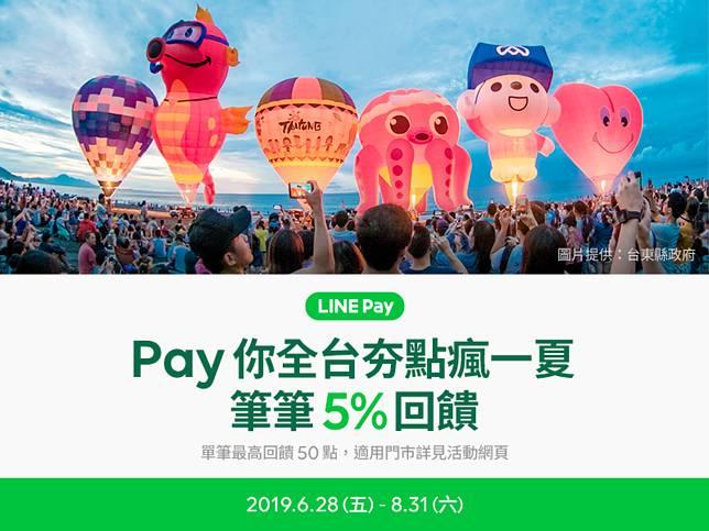 暑假來日月潭用LINE Pay!指定商店筆筆享5%回饋!