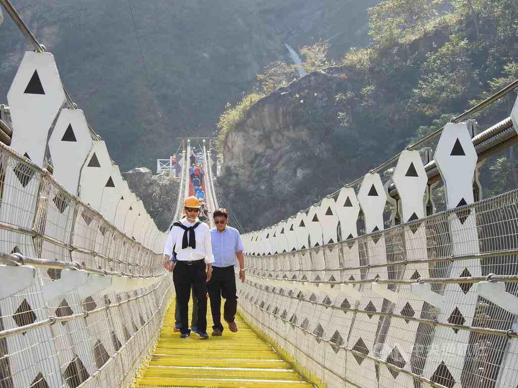 雙龍吊橋 雙龍瀑布 南投信義 雙龍部落 雙龍七彩吊橋