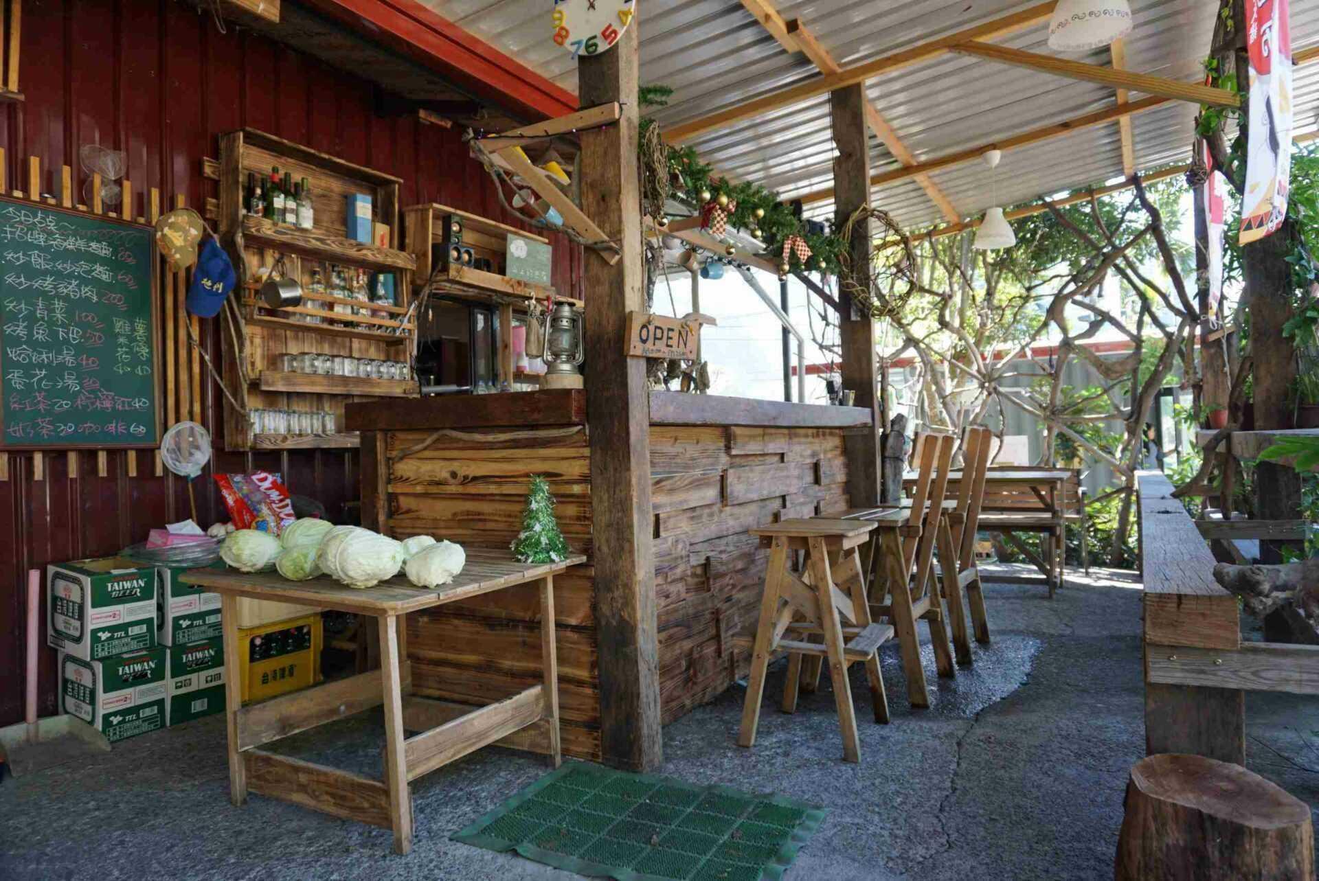 南投景點二日遊 | 哈努英餐館吧台