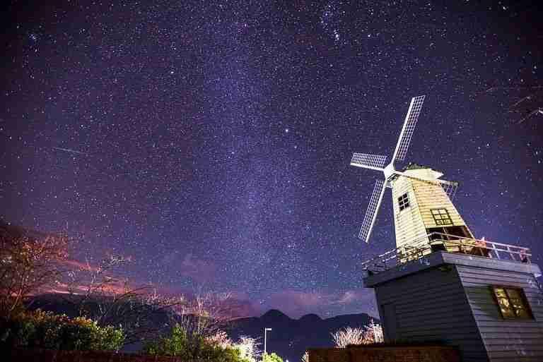 清境天氣 | 清境小瑞士銀河風車美景