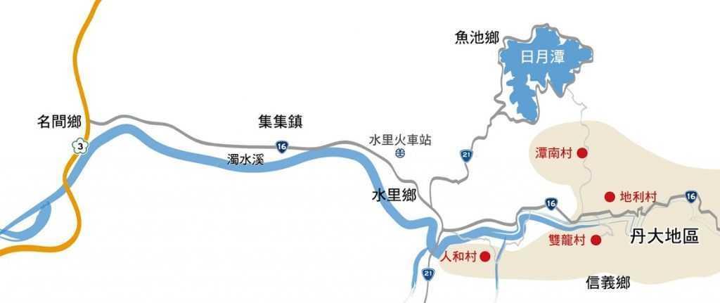 丹大地區周邊交通地圖
