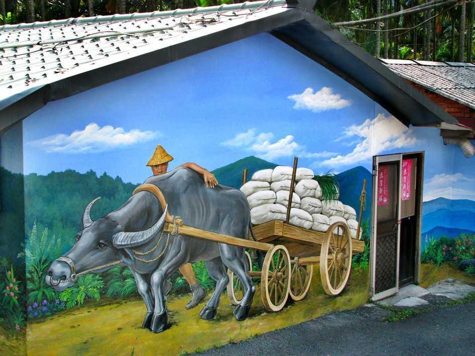 農村的壁畫-國際彩繪村