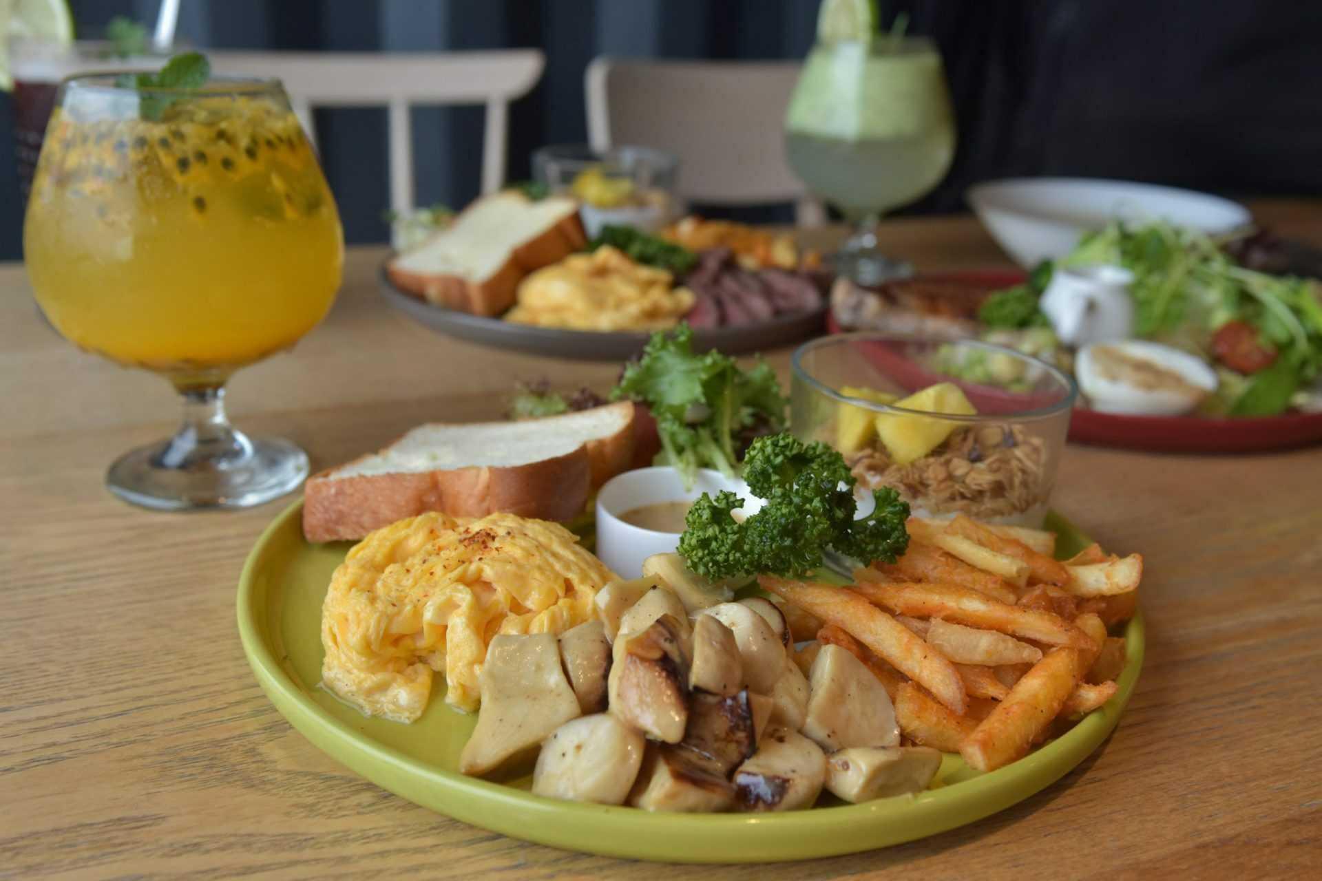埔里早午餐| 肆盒院|黑胡椒奶油野菇早午餐 NT$218