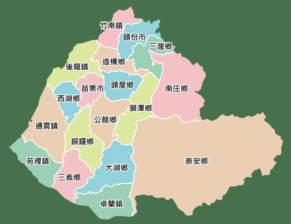 苗栗天氣 苗栗區域圖