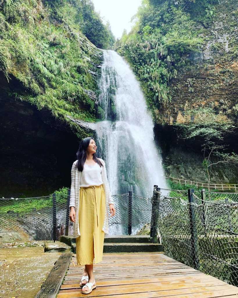 溪頭杉林溪景點 :松瀧岩瀑布