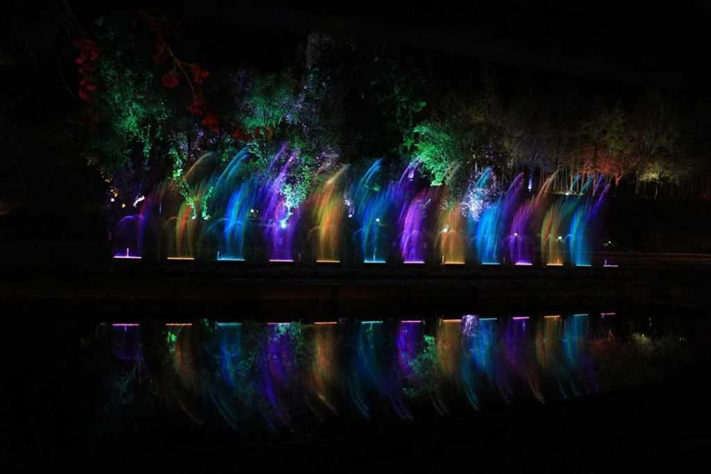 清境小瑞士花園 水舞燈光秀