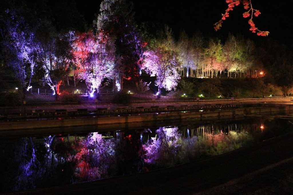 清境小瑞士花園 夜間水舞燈光秀