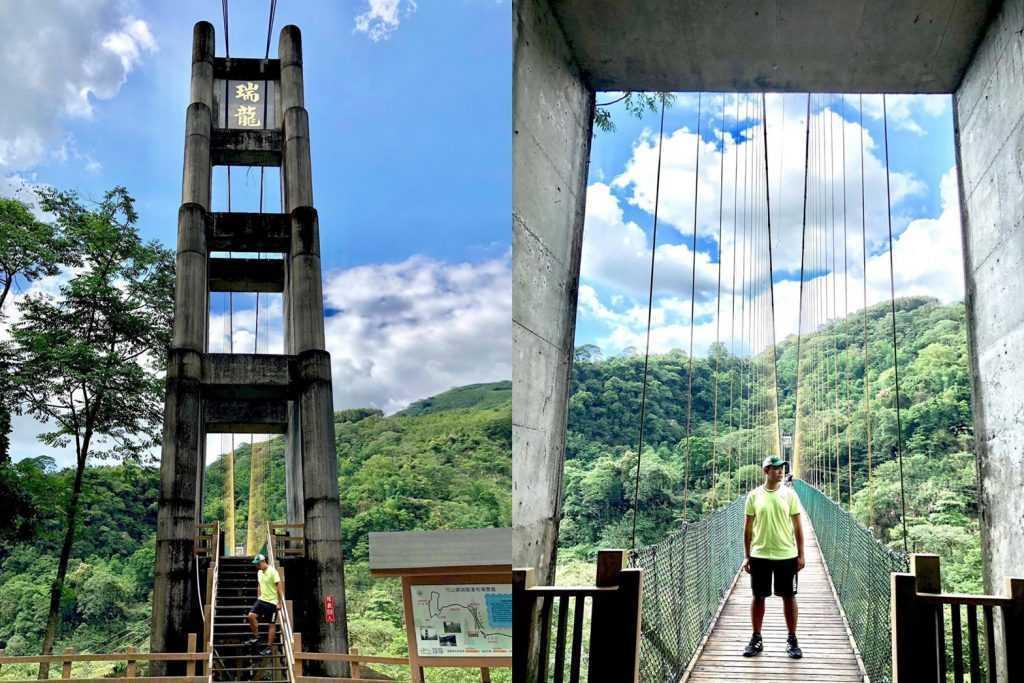 南投二日遊 |第三站:瑞龍瀑布園區|吊橋+瀑布
