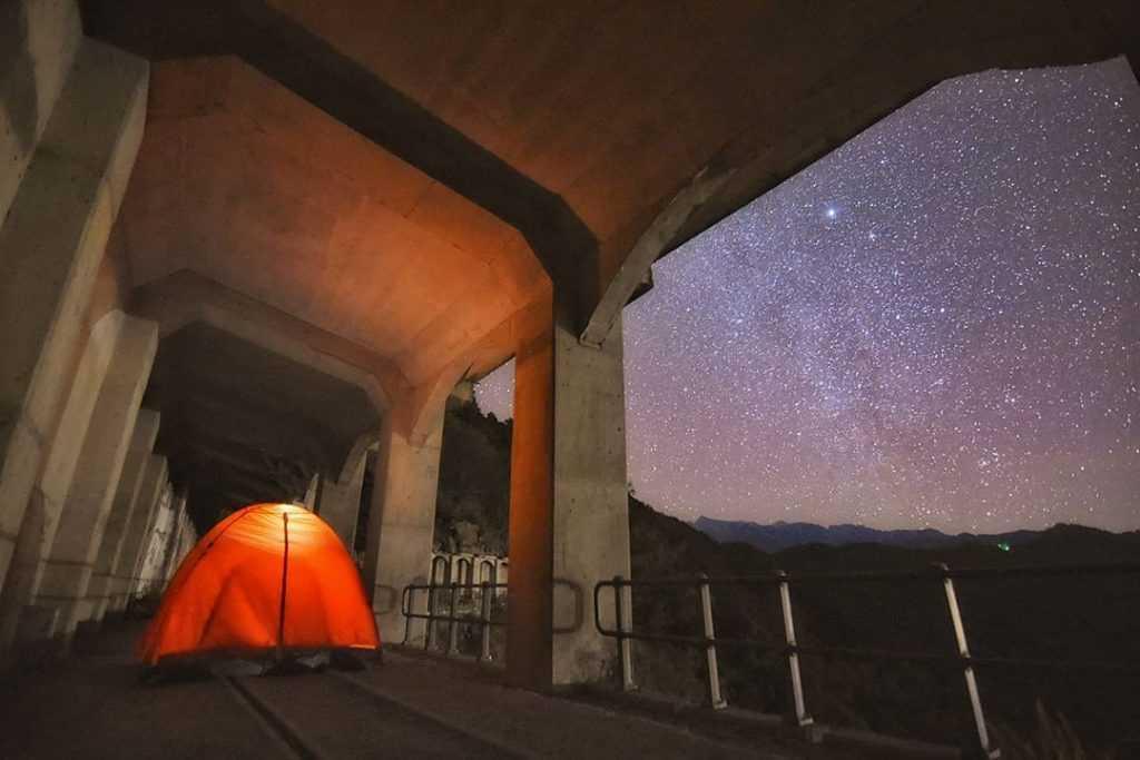 溪頭杉林溪景點:眠月線鐵路(塔山線)
