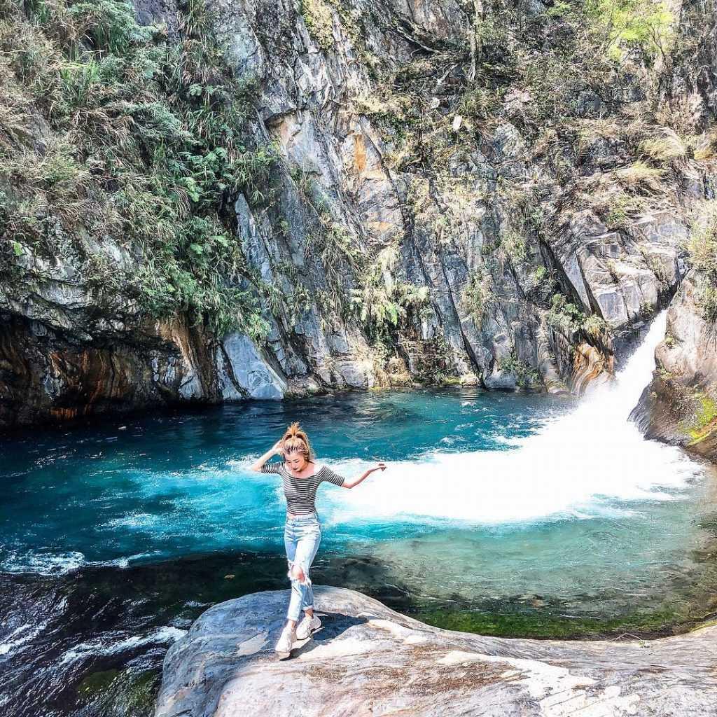 南投景點推薦 :帖比倫峽谷瀑布