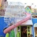 紙箱火車超吸睛!南投夢幻創意園區 粉紅旋轉溜滑梯免費玩