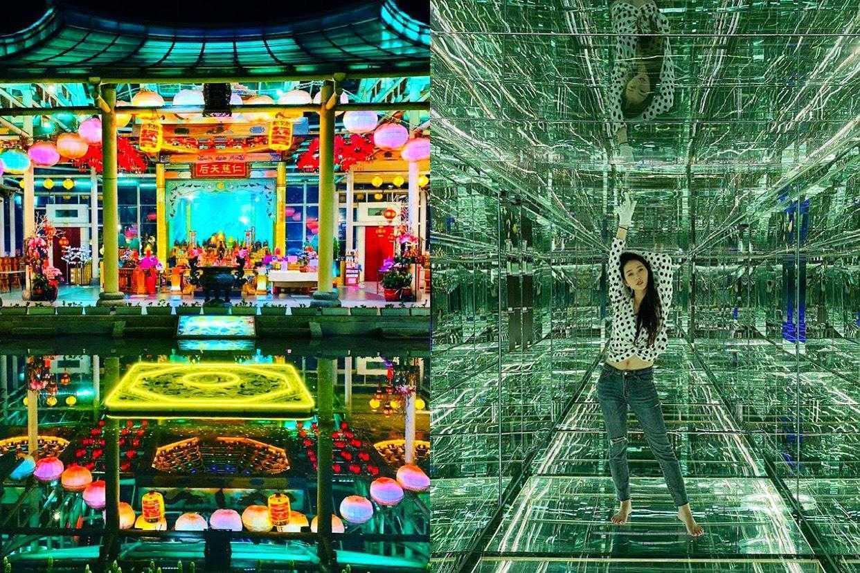 台灣玻璃館 《彰化鹿港》 全台灣唯一玻璃媽祖廟、黃金隧道、雷射玻璃迷宮