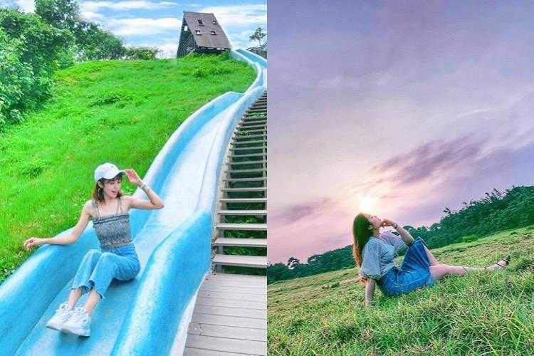 新竹青青草原 | 新竹戶外親子景點|北台灣最長磨石子溜滑梯