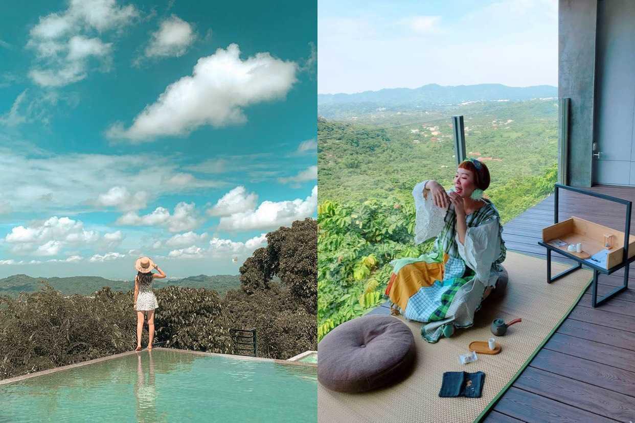 台南最美住宿《東山仙湖農場》|隱居山林的無邊際泳池、180度迎山日式房型,來美麗農莊泡杯茶吧!