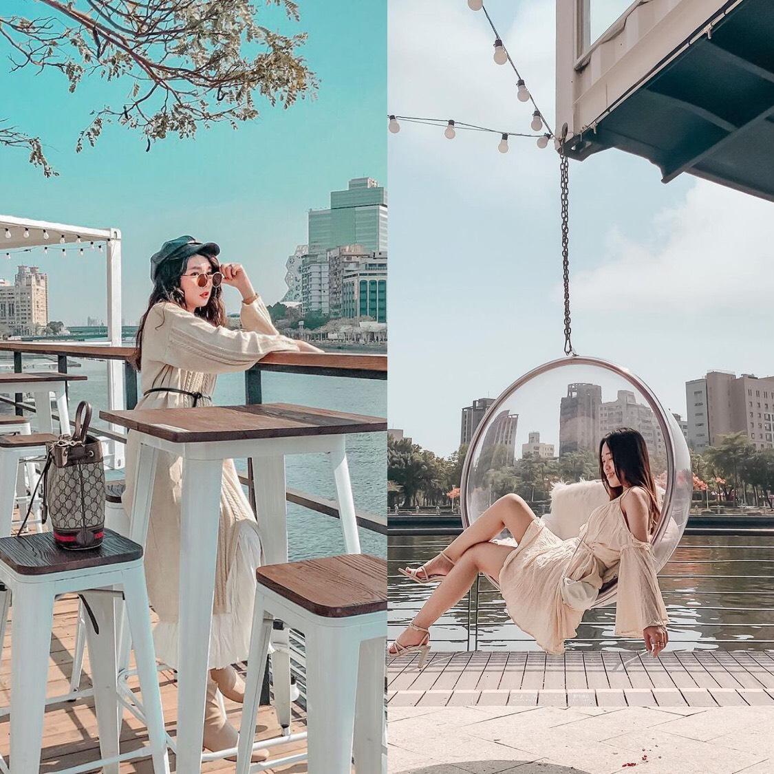 白色戀人貨櫃屋 | 愛河|情侶約會、IG打卡最新勝地,在河畔邊來一份浪漫的下午茶|料理菜單、交通、附近景點|高雄前金區