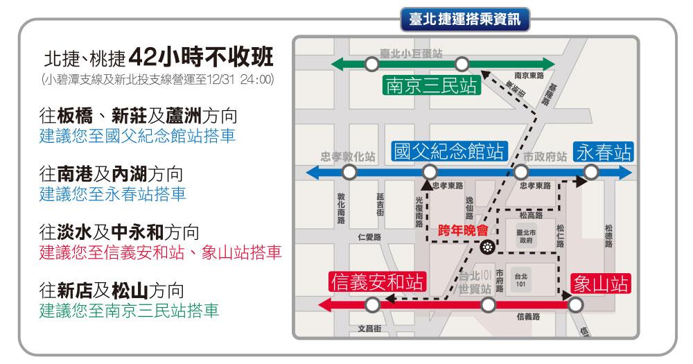 台北跨年2021,2021跨年演唱會,台北捷運搭乘資訊