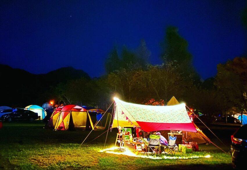 武陵農場露營區 棧板區